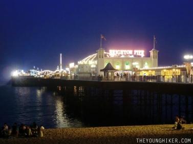 Brighton Pier de noche