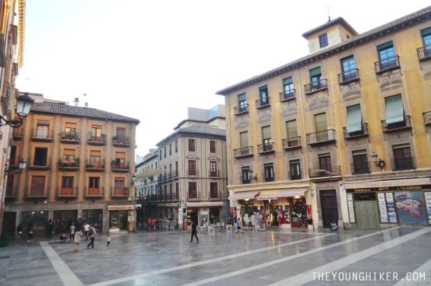 Plaza de las Pasiegas en Granada