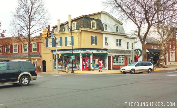 Sant Claus en las calles de Haddonfield, Nueva Jersey